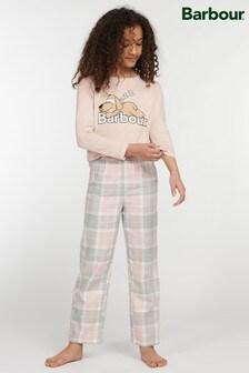 Barbour® Girls Pink Tartan Olivia Pyjama Set