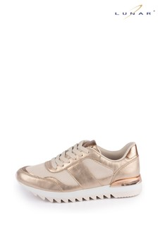 Lunar Gold Caitlyn Lace Trainers