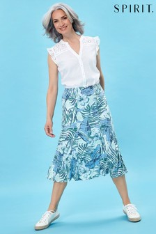 Spirit Palm Floral Skirt
