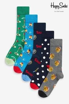 Pack de 5 pares de calcetines deportivos de HS by Happy Socks