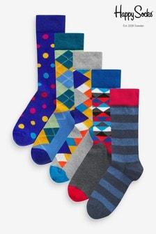 HS by Happy Socks Classic Socks 5 Pack
