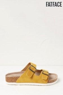 FatFace Yellow Meldon Double Strap Sandals