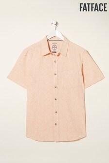FatFace Orange Jacquard Bugle Shirt