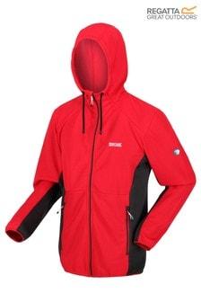 Regatta紅色Terota全拉鍊羅紋連帽上衣