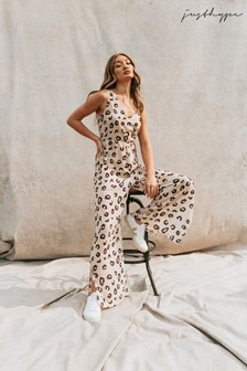 Hype. Cheetah Jumpsuit (A26974)   $69