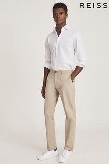 REISS Pitch Washed Slim Fit Chinos