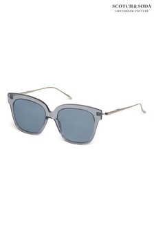 Scotch And Soda Grey Acetate Cat Eye Sunglasses