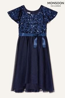 فستان أزرق من Monsoon