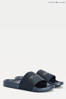 حذاء مفتوح لحمام السباحة معدني منTommy Hilfiger