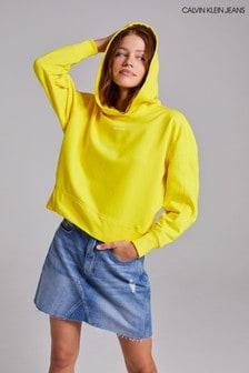 Calvin Klein Jeans Yellow Micro Branding Hoodie