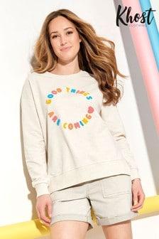 Khost Cream Good Things Slogan Sweatshirt