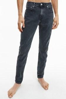 Calvin Klein Jeans Black Slim Tapered Denim Jeans