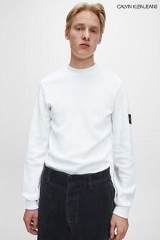 Calvin Klein Jeans White Monogram Waffle T-Shirt