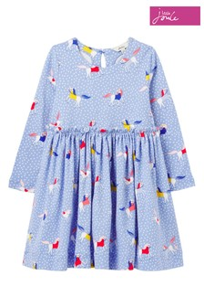 فستان جيرسيه Hampton وسط Paperbag لعمر 1-12 سنة أزرق من Joules