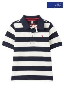 Niebieska koszulka polo w paski Joules Filbert