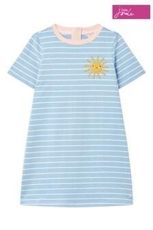 فستان بشكل A كم قصير Rosalee لعمر 1-12 سنة أزرق من Joules
