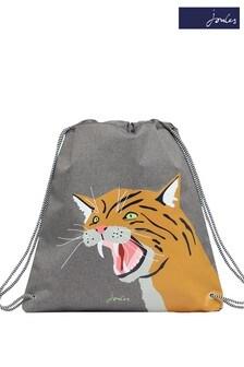 Joules Grey Active Drawstring Bag