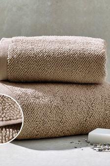 Mink Natural Cosy Textured Towel