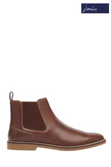 Joules Brown Bourne Leather Chelsea Boots