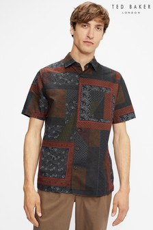 Ted Baker Relax Patchwork Print Shirt