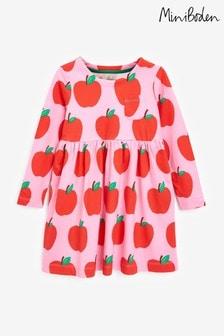 Boden Pink Long Sleeve Fun Jersey Dress