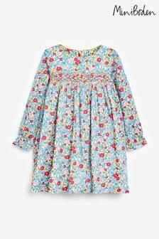 Boden Blue Smocked Dress