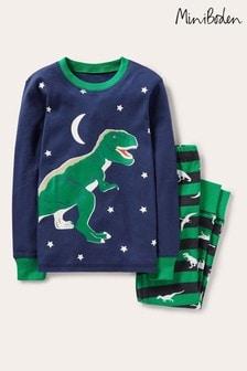 Boden Blue Snug Glow-in-the-dark Pyjamas