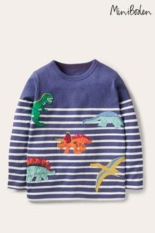Boden Blue Appliqué Breton T-Shirt