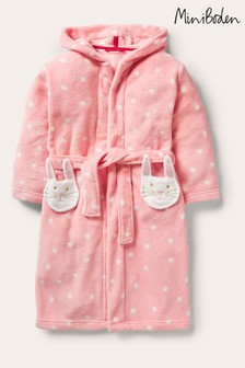Boden Pink Fun Cosy Dressing Gown