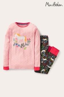 Boden Pink Snug Long John Pyjamas