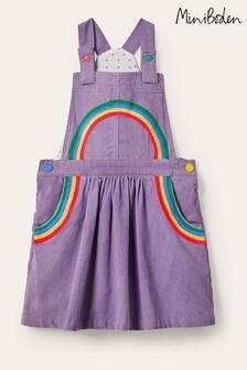 فستان منسوج بنفسجي نمط مئزر من Boden