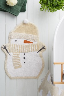 Snowman Shaped Bath Mat