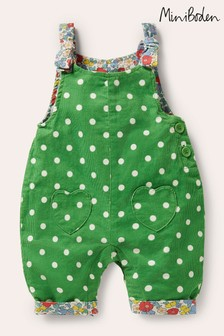 Boden Green Cord Dungarees
