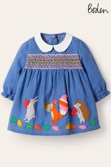 فستان تويل مجمع بأبليك من Boden