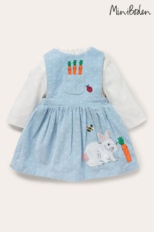 Boden Blue Cord Bunny Pinnie Set