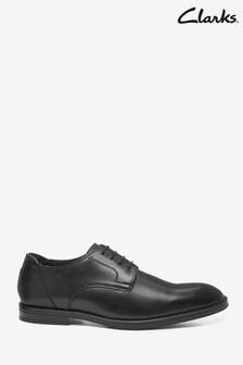 Clarks Black Leather CitiStrideWalk Shoes