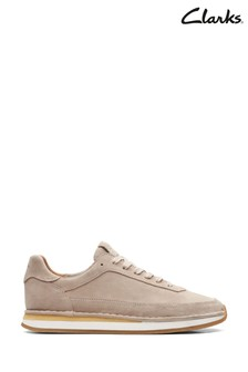 Clarks Sand Suede CraftRun Lace Shoes