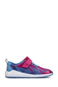 Clarks Aeon Pace Pink/Blue Lightening School Trainers