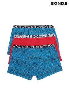 Bonds Blue Boys' Trunks 3 Pack