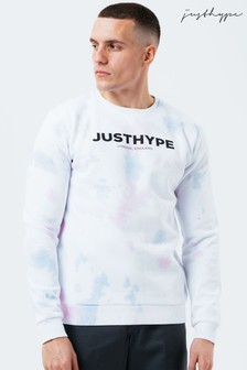 Белый мужской джемпер с круглым вырезомHype.Miami