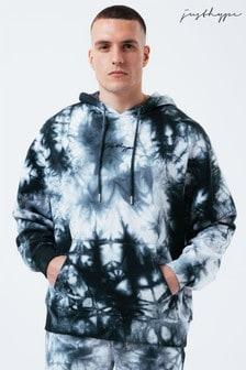 Hype. Mens Black West Dye Oversized Hoodie