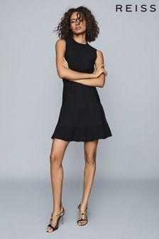 Reiss Clem Sheer Stripe Knitted Dress