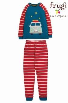 Красный пижамный комплект в полоску из органического хлопка Frugi - 2 предмета