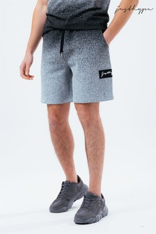 Hype. Mens Grey Speckle Fade Shorts