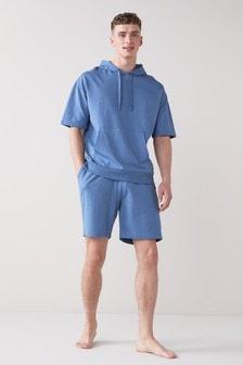 Short Sleeve Hooded Pyjama Set