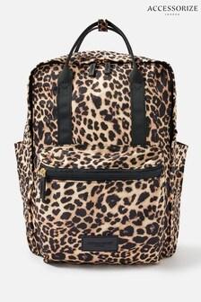 Холщовый рюкзак с леопардовым принтом Accessorize Frida