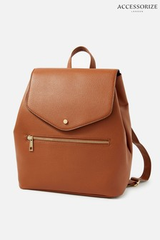 Светло-коричневый рюкзак на завязке Accessorize Kylie
