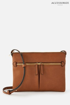 Accessorize Tan Ella Cross-Body Bag