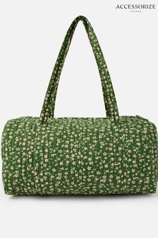 Accessorize Green Ditsy Weekender Bag