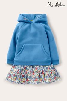 Синее удобное платье с капюшоном Boden
